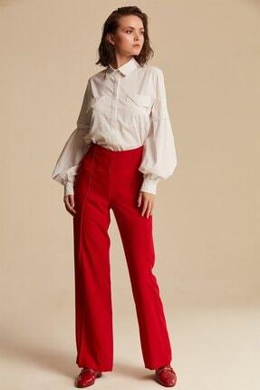Nihan Kadın Kırmızı Bol Paça Pantolon