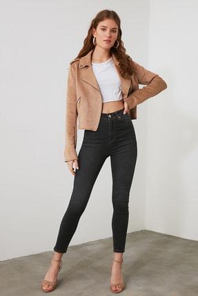 TRENDYOLMİLLA Siyah Yüksek Bel Skinny Jeans TWOAW21JE0416