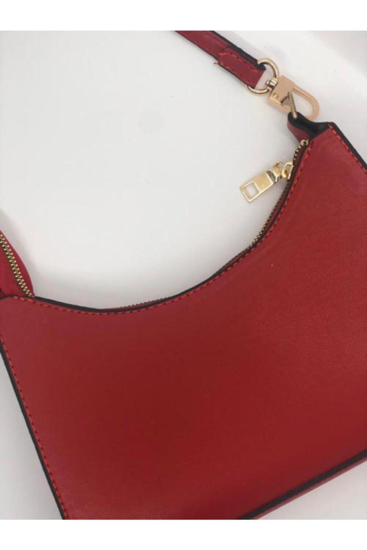 Marina Kadın  Kırmızı Omuz Çantası 1