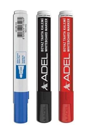 Adel 3 Adet Beyaz Tahta Kalemi 3 Renk 3'lü Set