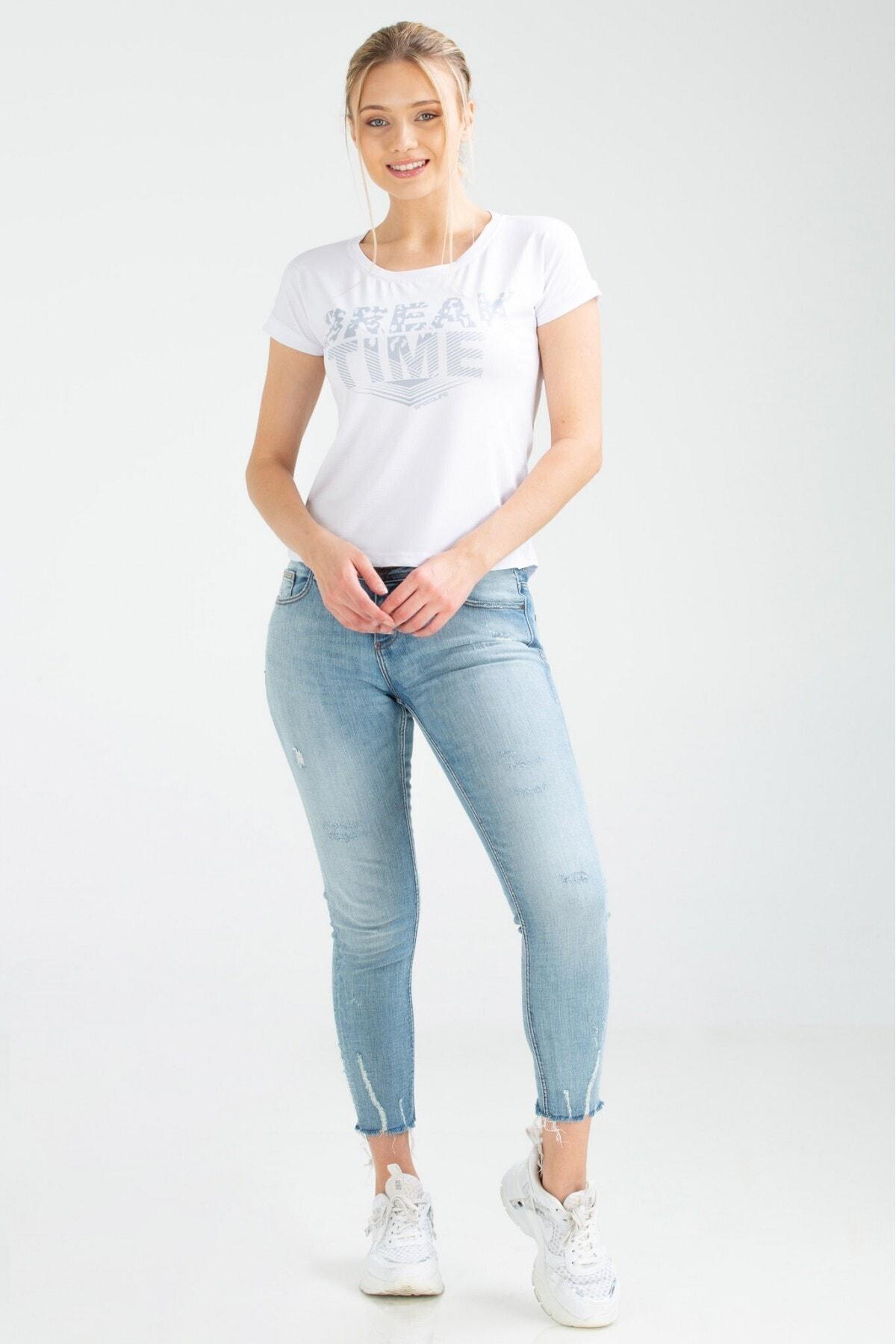 speedlife Kadın Tişört Bream Beyaz 2