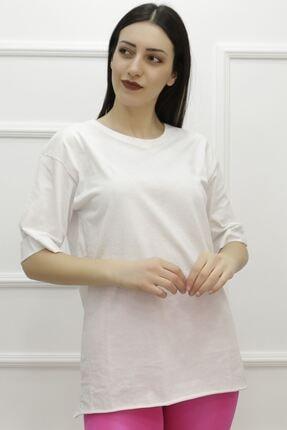 Haydigiy Kadın Beyaz Penye Tişört 3962.1005