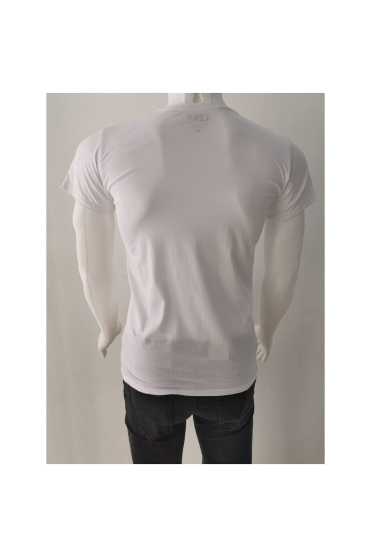 Ceo Erkek  Beyaz  T-shirt 2