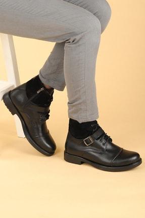 Ayakland Erkek Siyah 02 Süet Termo Taban Içi Kürklü Fermuarlı Bot Ayakkabı