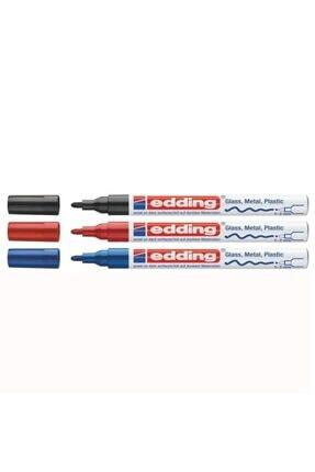Edding 751 Hobi Sanat Kalıcı Boya Kalemi Paint Marker 3'lü Set