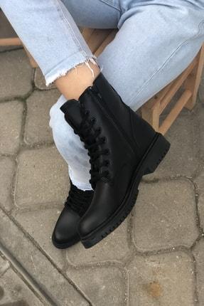 Mida Shoes Siyah Cilt Bot