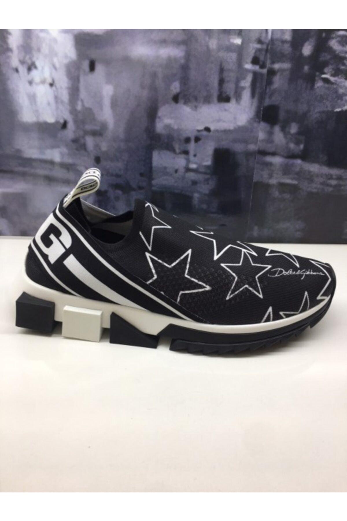 Dolce Gabbana Kadın Siyah Yıldızlı Sneaker 1