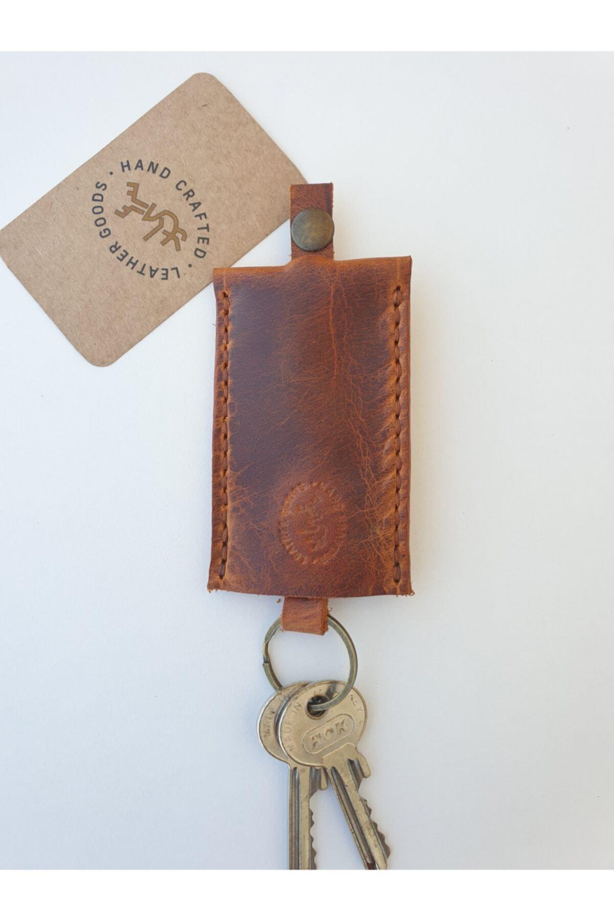 Lft Leather Craft El Yapımı Hakiki Deri Anahtarlık Cave Camel 1