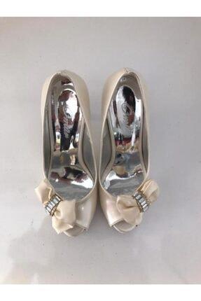 Podyum Kadın Bej Günlük Topuklu Ayakkabı