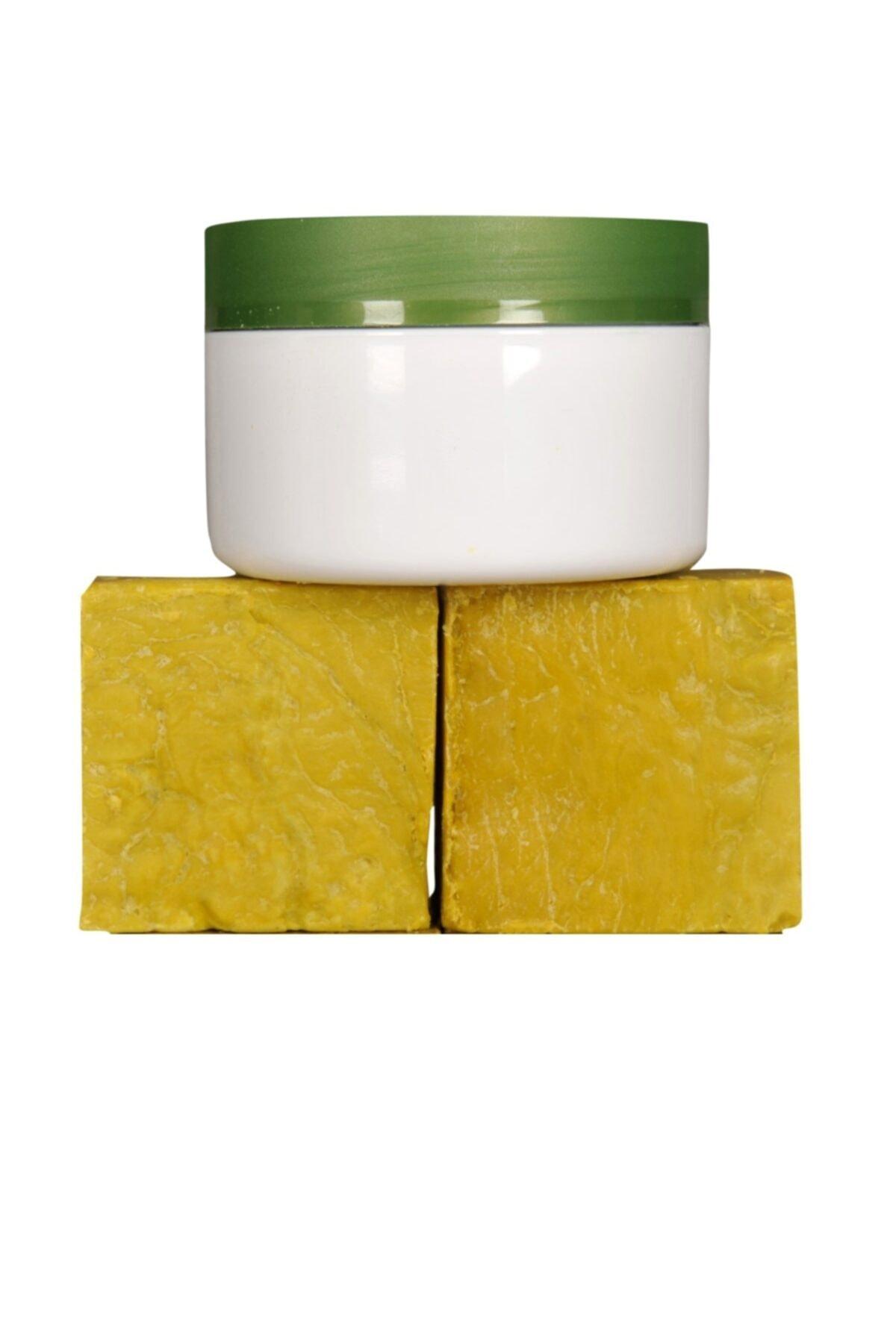 EVİN SİİRT ÜRÜNLERİ 250 Gr( 2 Kalıp) Yeşil Siirt Bıttım Sabunu + 1 Adet Bıttım Kremi 1