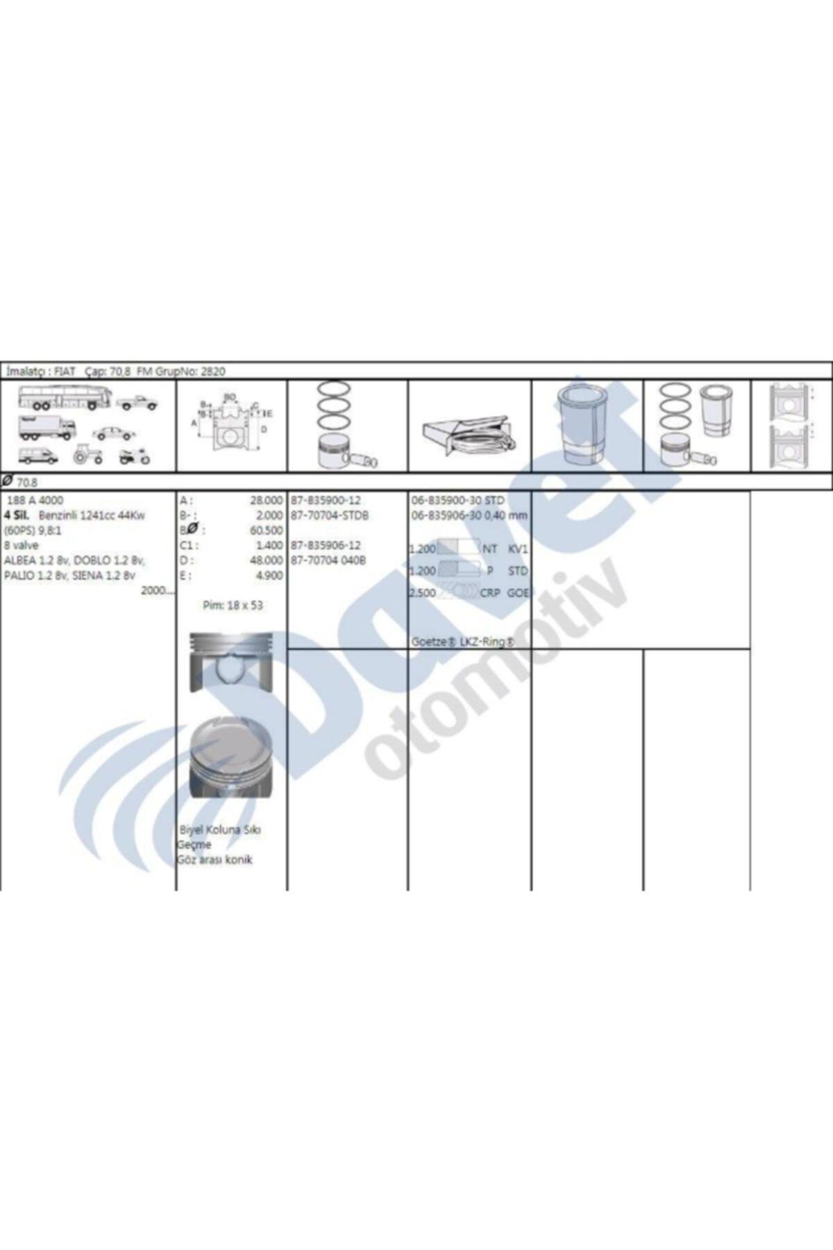 AGISS Piston + Segman 0.40 ( Fiat : Palio 1.2 8v ) - Iss-877070404000bg 1
