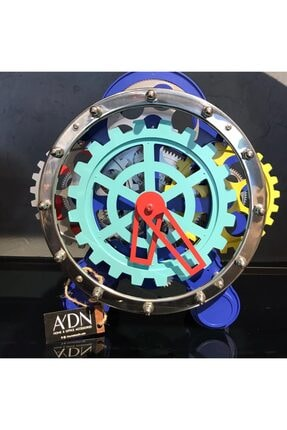 CxClock Mavi Renkli Makanizmalı Masa Saati
