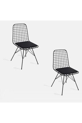 Theia Tasarım Tel Sandalye 2 Li Set