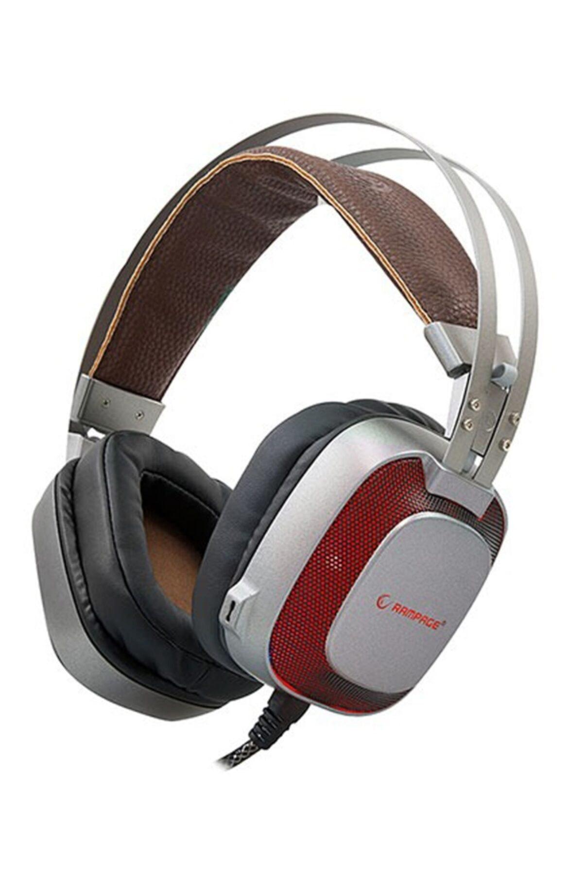 Rampage SN-RW77 PRESTIGE USB 7.1 Metalik Gri Gizli Mikrofonlu 7 Renk Ledli Oyuncu Kulaklık 1