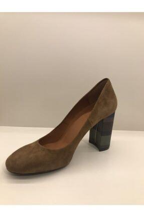 İnci Kadın Kahverengi Süet Topuklu Ayakkabı