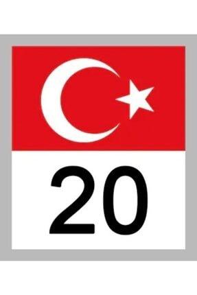 Apex Türk Bayrağı ve Plaka Kodu Sticker