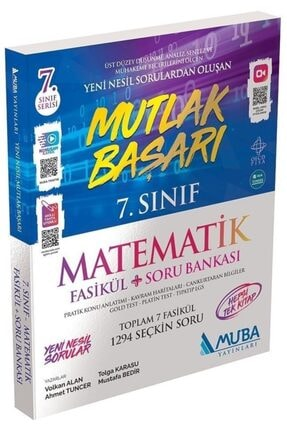 Muba Yayınları Muba Mutlak Başarı 7. Sınıf Matematik Fasikül Soru Bankası