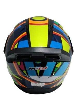 VENOM Çene Açılır Motosiklet Kaskı Ce Sertifikalı Rossi Jk19