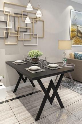 Evdemo Parla Mutfak Yemek Masası Siyah