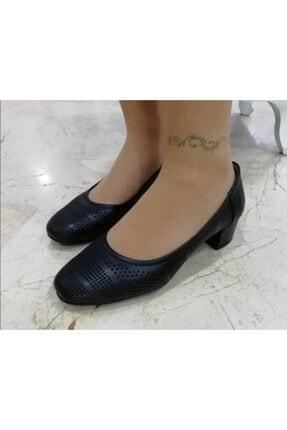 Sedef Kadın Siyah Kalın Topuklu Ayakkabı
