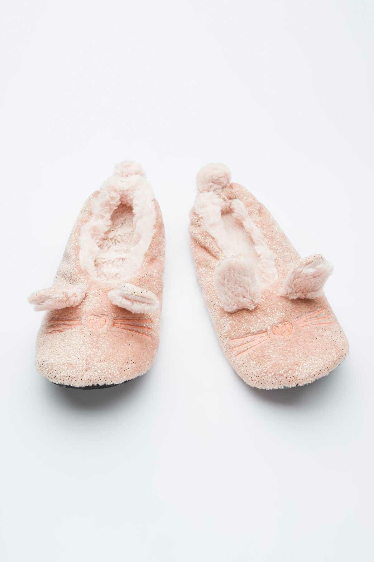 Penti Kadın Dusty Pink Shiny Mouse Patik Çorabı