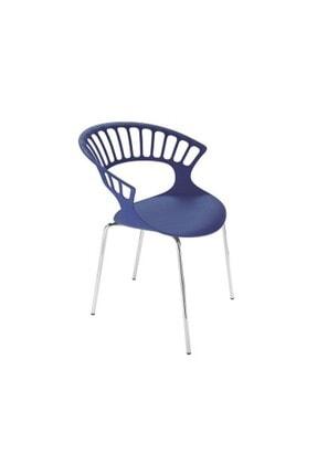 Papatya Tıara Plastık Sandalye Bahçe Mutfak Restoran Kafe Mor - Krom