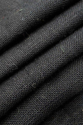 KURUMSAL AMBALAJ 3 Metre Siyah Jüt Hasır Kaneviçe Kumaş