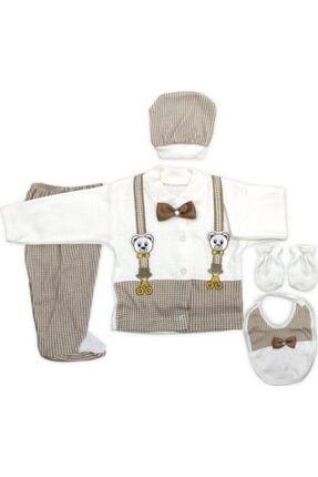 Bambino Erkek Bebek Papyonlu Damat 5'li Hastane Çıkış Seti 0 - 3 Ay