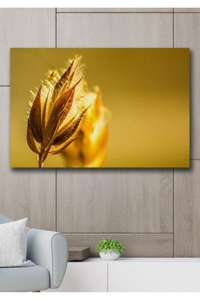 Hediyeler Kapında Sarı Filiz Kanvas Duvar Tablo 70x100 cm