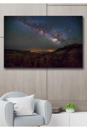 Hediyeler Kapında Yıldızlar Kanvas Duvar Tablo 90x130 cm