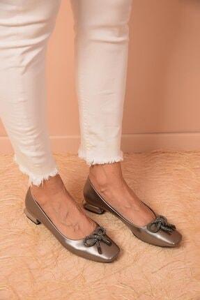 Shoes Time Kadın Platin Babet 20k 403