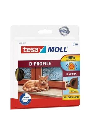 Tesa Moll Izolasyon Profili (kapı Pencere Kauçuk Izalasyon Fitili) D-profil 3.7mm X 6mt Kahverengi