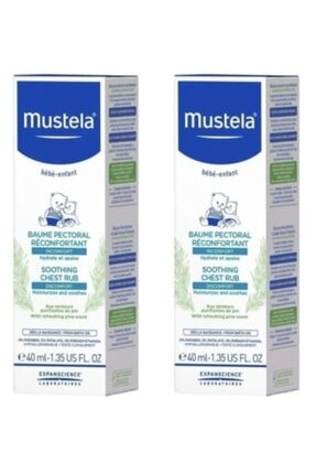 Mustela Soothing Chest Rub 40 ml 2 Adet