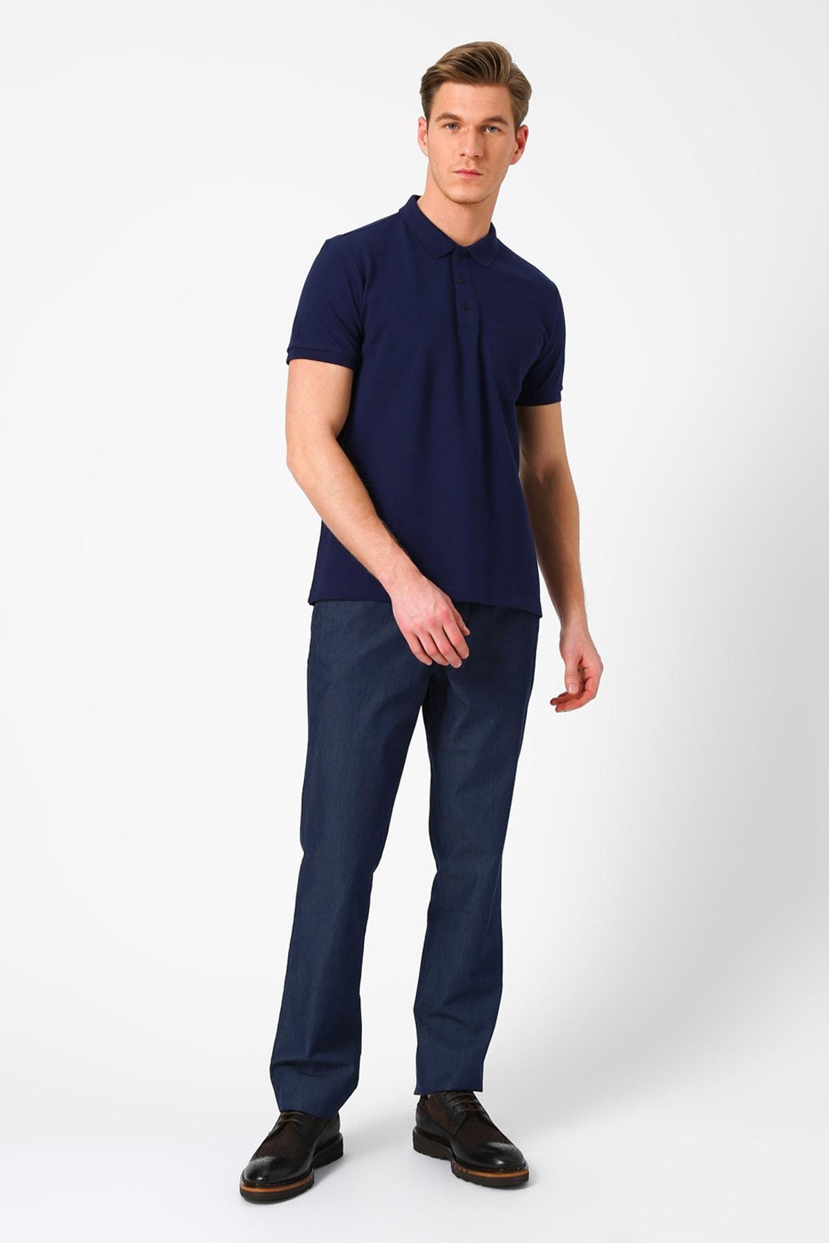 Cotton Bar Erkek Lacivert Pantolon 503155005 1
