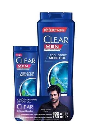 Clear Men Cool Sport Menthol Şampuan 600 Ml + 180 Ml Şampuan Hediye