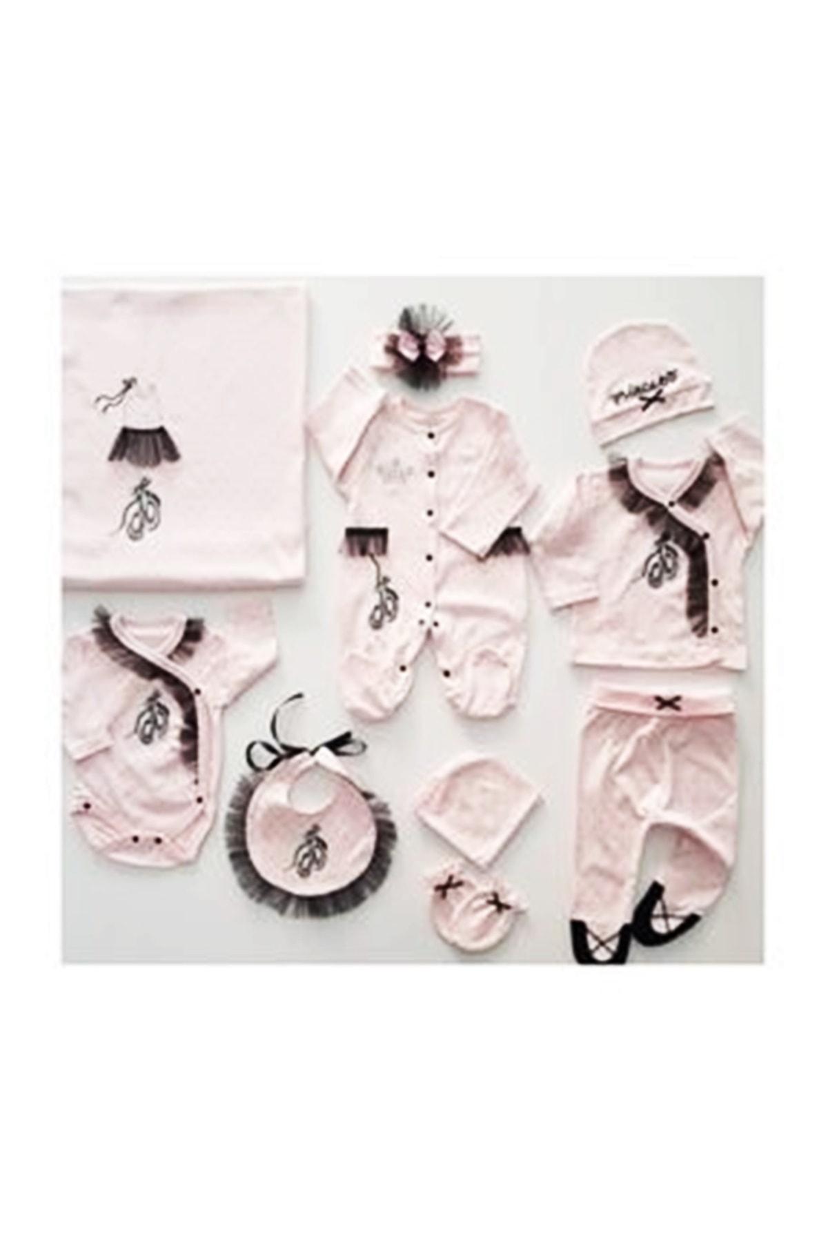 Eda Baby Kız Bebek Pembe Balerin Hastane Seti 1
