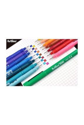 artline 200 Fineliner 0.4 Mm Ince Uçlu Yazı Ve Çizim Kalemi 15 Renk Set