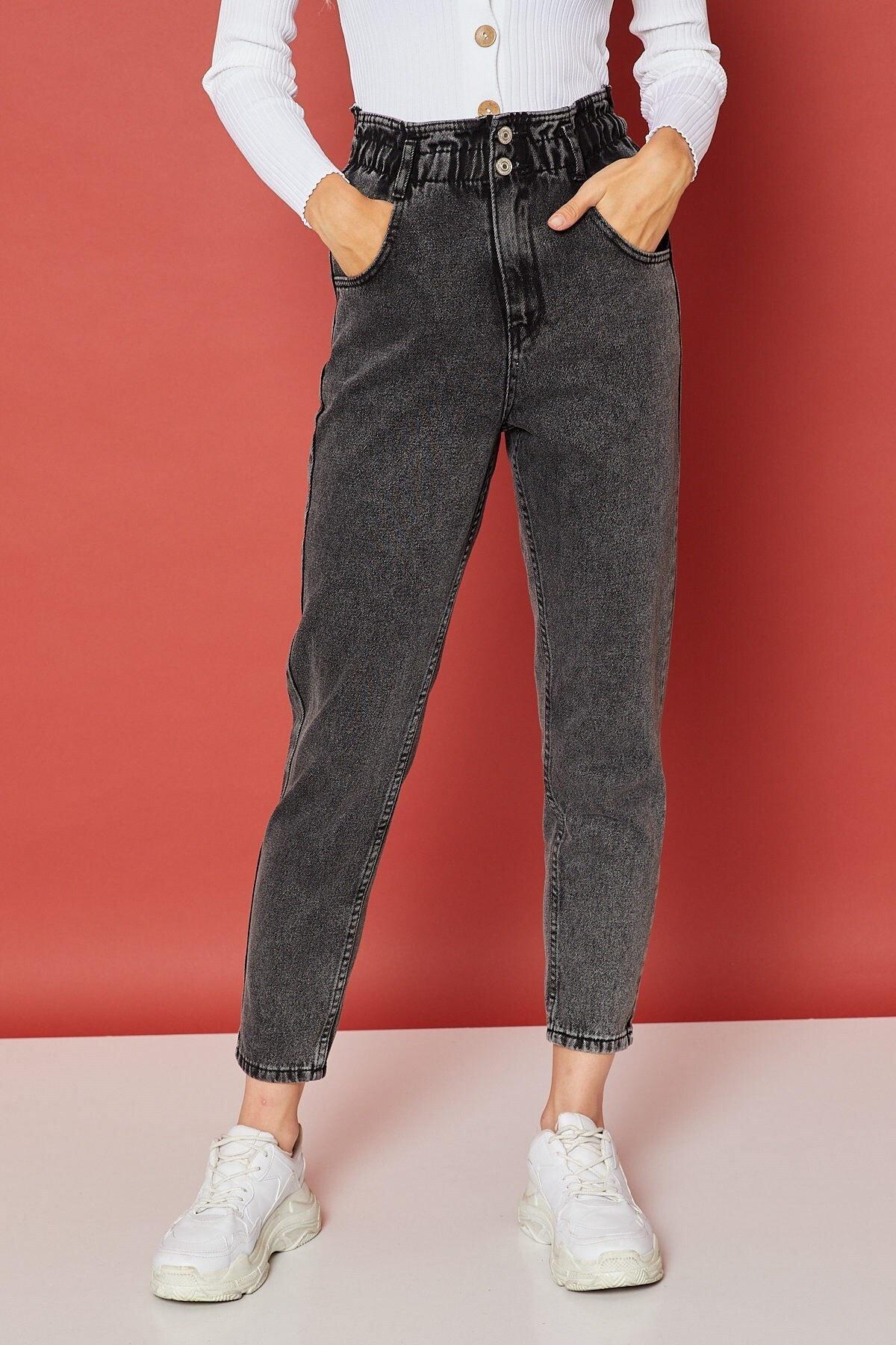 Arma Life Kadın Füme Beli Büzgülü Çift Düğmeli Pantolon 2