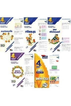 Açı Yayınları Yaprak Test 4. Sınıf Matematik Türkçe Fen Sosyal Ingilizce Seti 5 Test