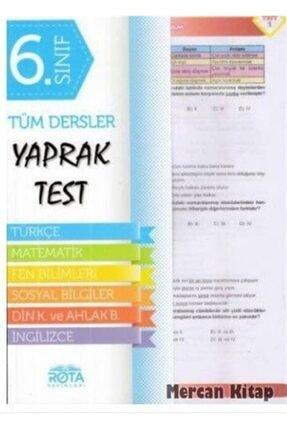 Rota Yayınları 6.sınıf Tüm Dersler Yaprak Test