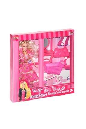 Efe Toys 221 G-m Sweet Gırl Gardolaplı Market Arabalı
