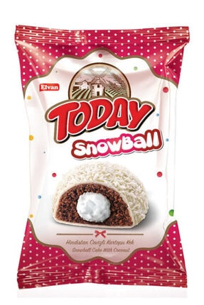 Elvan Today Snowball Hindistan Cevizli Kek 45 Gr. 24 Adet (1 Kutu)
