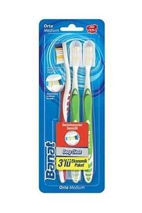 Banat Deep Clean Diş Fırçası 3'lü Ekonomik Paket