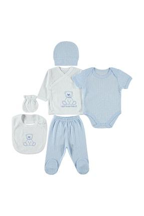 Civil Baby Bebek 6'lı Zıbın Takımları Yenidoğan Beyaz