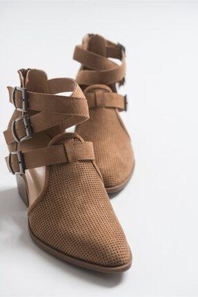 LuviShoes 2030 Camel Kadın Yazlık Bot