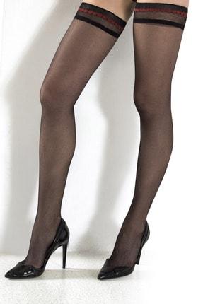 Tina Wear 80965-kalp Model Siyah Jartiyer Çorap