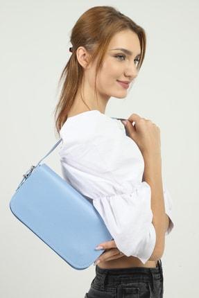 SHAKA Mavi Kapaklı Baget Çanta