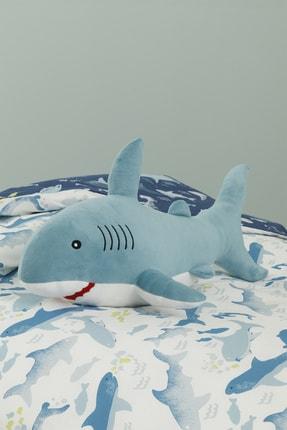 English Home Mini Shark Dekoratif Yastık 28x48 Cm Mavi
