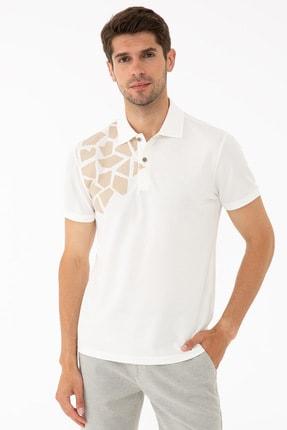 Pierre Cardin Ecru Erkek T-Shirt