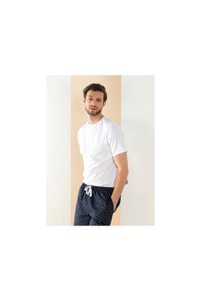 English Home Cotton Fit Yuvarlak Yaka Pamuk Erkek Fanila Xxl Beyaz